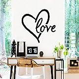 BFMBCH Adesivi murali amore a forma di cuore carino Decorazione della casa Carta da parati murale in vinile Camera da letto Soggiorno Camera dei bambini Adesivi murali arte Blu M 28 cm X 28 cm