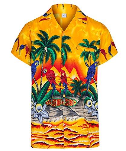 Redstar Fancy Dress Cerveza y Playa para Hombre Camisa Hawaiana de Manga Corta Todas Las Tallas