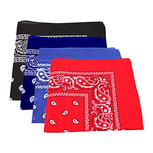 4-x-mens-womens-paisley-pattern-bandana-head-neck-scarf-100-cotton-navy-blue-royal-blue-black-red