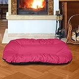 BedDog 2 in 1 letto per cane REX XXL fino a XXXL, 9 colori a scelta, cuscino per cane, divano per cane, cestino per cane, rosa/nero XXXL
