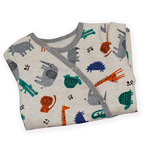 Kadambaby- Wild Safari body suit /footed romper /Newborn sleepsuit / onesies for baby boy/ Premium baby sleepwear (0-3 Months)