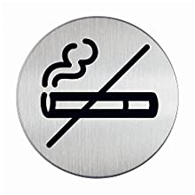 Durable No Smoking Pictogram Sign Stainless Steel Ref 4911-23