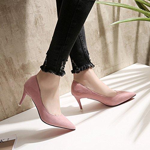 Desconocido Welldone2017, Zapatos De Tacón Alto De Mujer Rosa