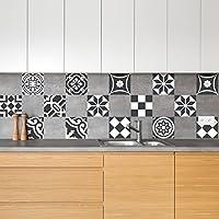 Amazon Fr Carrelage Mosaique Noir Cuisine Maison