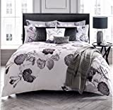 KARL LAGERFELD SENNA FLORAL LILAC GREY DOUBLE DUVET COVER