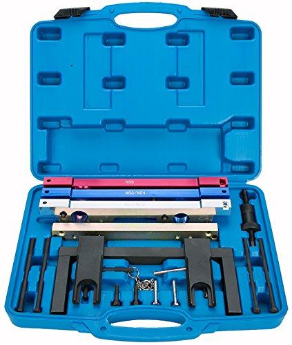 FreeTec Motor Nockenwellen Einstellwerzeug Steuerkette Wechsel Werkzeug kompatibel für BMW N51/N52/N53/N54/N55