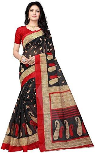 Vimalnath Synthetics Printed Bhagalpuri Kota Silk Saree(Red)