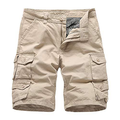 BMEIG Pantalones Cortos Carga Hombre Verano