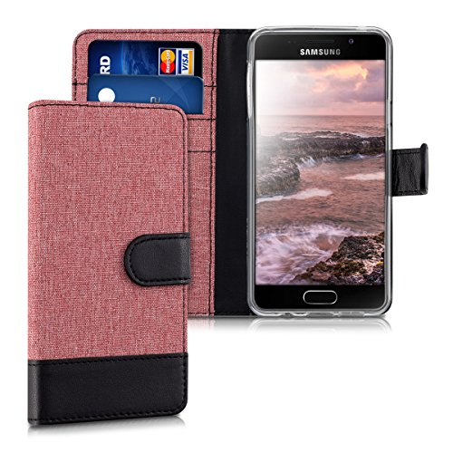 kwmobile Samsung Galaxy A3 (2016) Hülle - Kunstleder Wallet Case für Samsung Galaxy A3 (2016) mit Kartenfächern und Stand