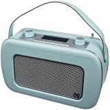 KitSound Jive Radio DAB Numérique Portable de Style Rétro Années 50 avec Double Alarme et Poignée de Transport - Livré avec Prise Anglaise - Bleu