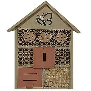 Insect Hotel Nichoir Pendant en Bois Maison Abeille Coccinelle Insecte Jardin