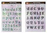 Silikonstempel Alphabet 2er Set, Viva Decor Stempel Buchstaben groß und Buchstaben klein
