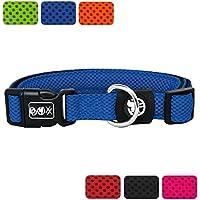 [Gesponsert]DDOXX Hundehalsband Air Mesh | für große, mittelgroße, mittlere & kleine Hunde | Halsband Hund | Hundehalsbänder | Katzen Halsbänder | Katzenhalsband | Zubehör | Blau, XS - 1,5 x 21-30 cm