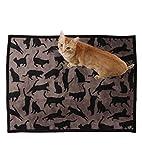 UPPERCASE Haustierdecke COOL CATS, Taupe / Schwarz, 75 x 100 cm