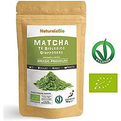 Matcha Tee Pulver Bio [ Premium-Qualität ] 50g | Original Green Tea aus Japan hergestellt in Uji, Kyoto. Japanischer Grüntee-Pulver Ideal zum Trinken für Matcha Latte, Smoothies, Matcha-Getränk