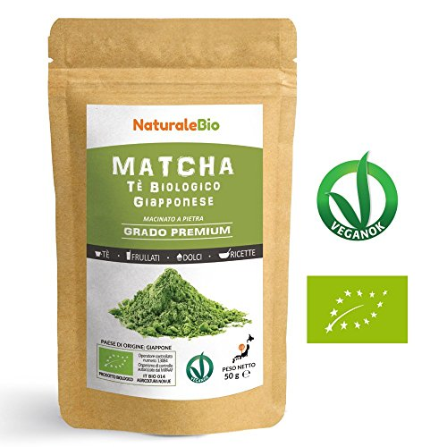 Japanese Organic Matcha Green Tea Powder [ Premium Grade ] 50g | Tea Produced in Japan, Uji, Kyoto | Use for Drinking, Cooking, Baking, Smoothie Making and with Milk | Vegan & Vegetarian Friendly