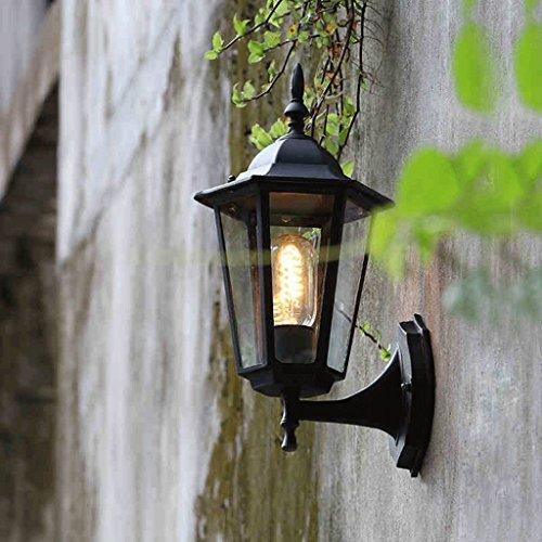 lumières extérieures étanches Continental américaines lampe murale extérieure rétro créative mur Villa Hof Extérieur Applique murale balcon