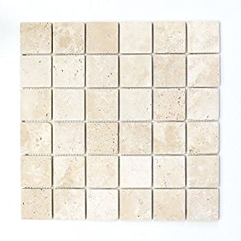 Carrelage mosaïque Travertin Pierre Naturelle Beige Chiaro ...