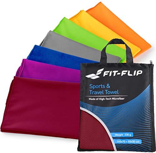 Preisvergleich Produktbild Fit-Flip 60x120cm - 1 Stück / Weinrot,  mikrofaser handtücher braun mikrofaser handtücher bunt XXXL mikrofaser handtücher Basic mikrofaser handtücher Baby