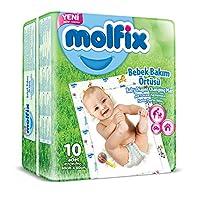 Molfix Alt Değiştirme Örtüsü, 60x60 cm, 10 Adet