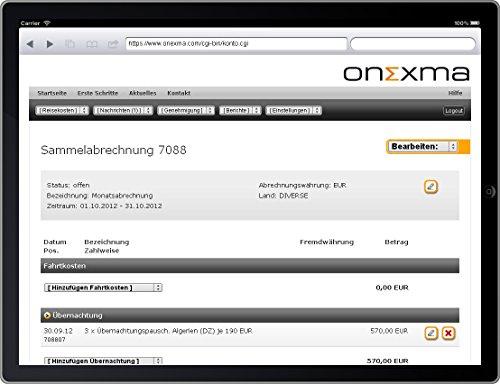 Onexma.com Reisekostenabrechnung Business 2016/2017 (Win/Mac/iOS/Android)