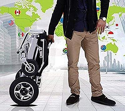 huiiv New Model 2019 Fold & Travel Lightweight Motorized Electric Power Wheelchair Scooter, Aviation Travel Safe Electric Wheelchair Heavy Duty Power Wheelchair
