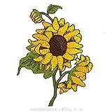 [Evergreen Palacio] rama de Pretty Fresco girasol flores (amarillo, verde)–sobre, Sew de...