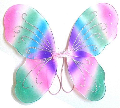3-7 ans - Accessoire Costume - Déguisement - Carnaval - Halloween - Théâtre - Ailes de papillons - Fée - Multicolore - Fill