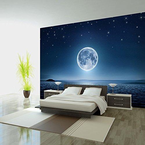 Fotomural 200x140 cm ! Papel tejido-no tejido. Fotomurales - Papel pintado 200x140 cm - XXL Moon mar noche cielo estrella luna c-A-0036-a-a