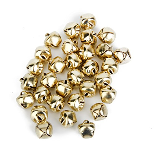 Generic Metal Jingle Bells for Christmas Decoration Jewellery Making Craft 10mm Pack of Approx.100pcs Bronze