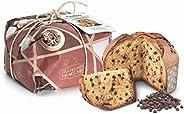 Panettone artigianale con Praline al Cioccolato - di Fraccaro Spumadoro, Dolce natalizio Made in Italy – 750 g