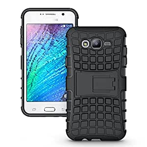 Accessories Collection Samsung Galaxy J7 - Stylish Hard Back Armor Shock Proof Case with Back Stand Feature & Free Screen Protector