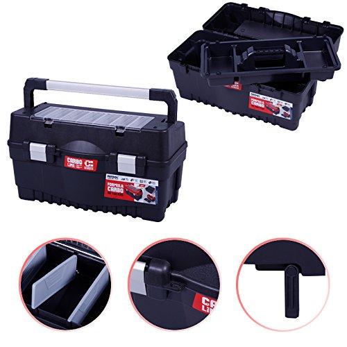 Werkzeugkoffer 60cm Werkzeugkasten Sortimentskasten Werkzeugkiste Angelkoffer Kunststoff Angelkiste Anglerkoffer Sortierkasten Fachkasten