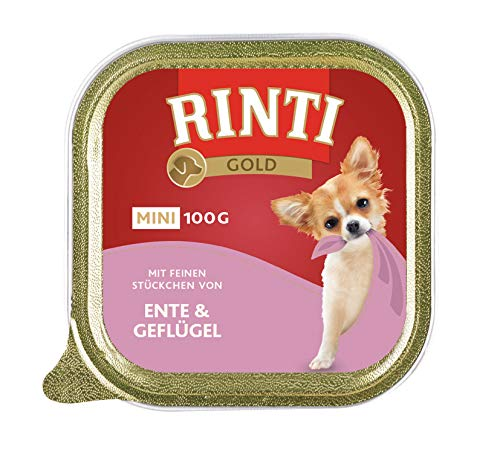Rinti Gold Mini Ente & Geflügel, 16er Pack (16 x 100 g) -