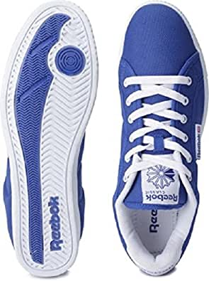 Reebok Classics Men's On Court III Lp Royal Blue and White Canvas Sneakers  - 7 UK