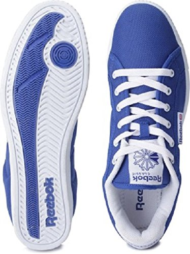 Reebok Classics Men's On Court III Lp Royal Blue and White Canvas Sneakers  – 8 UK 51Tx1GfP4uL