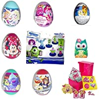 9 items of surprise eggs and toys for Girls including Frozen, Minnie Mouse, My Little Pony, Princesses, Barbie gift for birthday party easter …