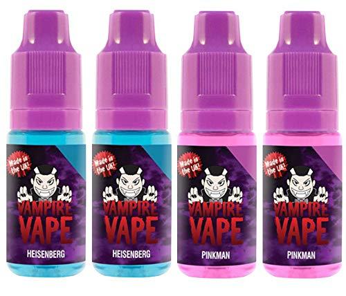 Vampire Vape E-Liquid 4x10ml für E-Zigarette - Heisenberg, Pinkman - 0mg (ohne Nikotin)