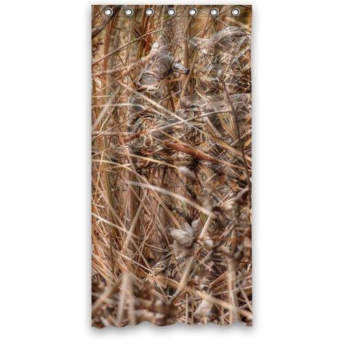 Bart671Lu Custom Camouflage Realtree Wasserdichter Anti-Schimmel Duschvorhang Polyester Stoff Badezimmer Vorhang 36x72 cm (Realtree Stoff)