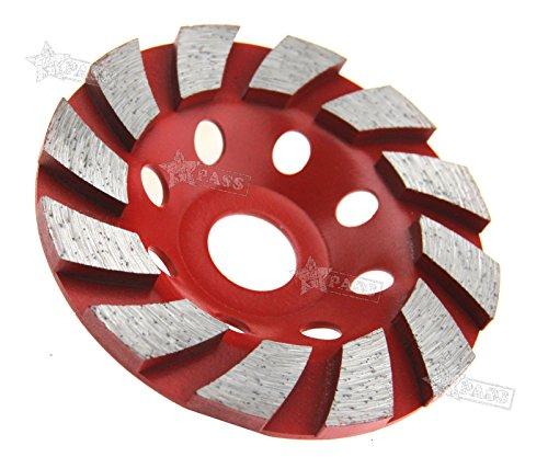 Generic ER Rad Disc Granit S Schleifstifte Cup C Grinde 10,2cm 100mm HHS T Schleifstifte Mahlwerk Granit Stein ND Segment Diamant Segment (S2-diamant-ring)