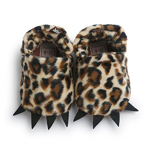 ESTAMICO , Baby Mädchen Krabbelschuhe & Puschen rot rot 12-18 Monate Leopard