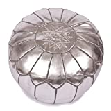 Maison de Marrakech Silber Marokkanischer Puff/Pouf, Hocker
