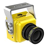 FPV Camera Caddx Turbo S1 FPV Camera 1/3 CCD 600TVL 2.3mm IR Blocked PAL DC Wide Voltage Yellow for FPV RCing Drone by HankerMall from HankerMall