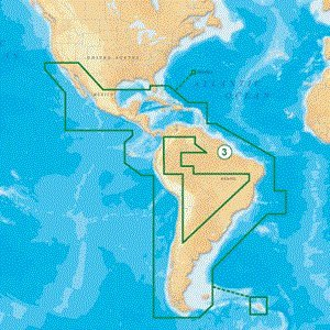 NAVIONICS GOLD CENTRAL AND SOUTH AMERICA ON SD/MICRO SD