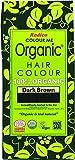 Radico colorez moi organiques 100% herbes naturelles durables sombre couleur de cheveux brun 100g / 3,53 onces