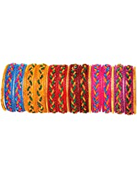 Beautiful & Trendy Handmade Multicolor Spring & Glass Bangles For Women & Girls On Different Occasions