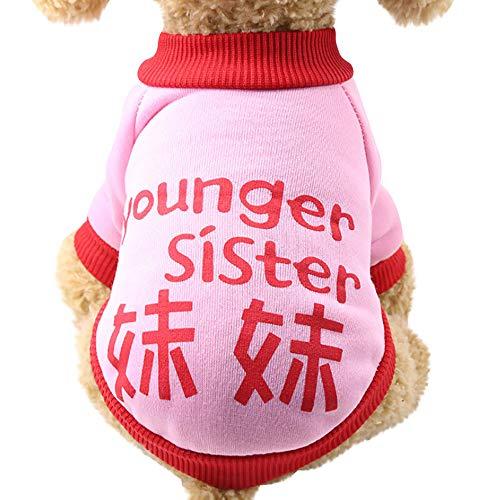 de Bekleidung Mini Hündchen Welpe Winter Warme Süß Halloween Schädel Drucken Hundemantel Sweater Gemütlich Weich Elastisch Hundejacke Shirt ()