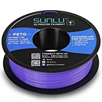 SUNLU PETG Filament 1.75mm with sunlu upgrade 1kg Spool (2.2lbs), Dimensional Accuracy +/- 0.02 mm, Fit Most FDM Printer, Purple