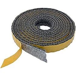 Pyrojoints 502, plat, auto-adhésif, noir, 2mm x 8 mm, noir, au mètre.