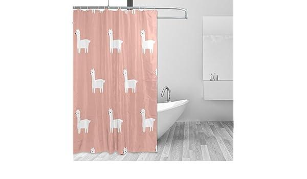 Duschvorhänge & Zubehör BALII Fox Duschvorhang 182,9x 182,9cm Polyester Wasserdicht mit 12Haken für Badezimmer Badausstattung